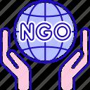 charity, earth, hands, ngo, planet, volunteering icon