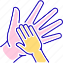 charity, children, help, volunteering icon