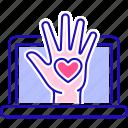charity, money, online, volunteering icon
