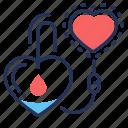 blood, donorship, drip bulb, heart