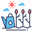 planting, sprouts, trees, watering can icon