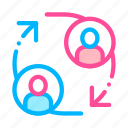 person, support, volunteers icon