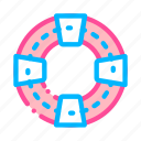 life, saver, support, volunteers icon icon