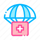 parachute, support, volunteers icon