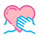 hand, hold, support, volunteers icon