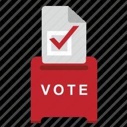 accept, box, elections, person, vote icon