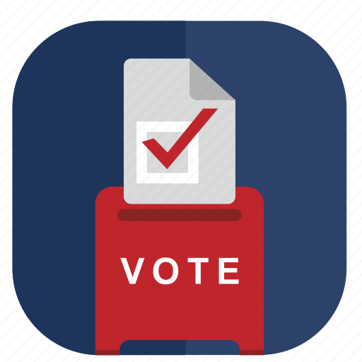 application, box, elections, vote icon