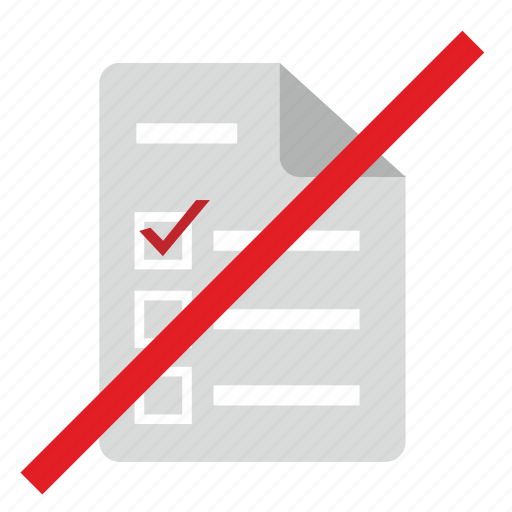 broken, cancel, elections, list, vote icon