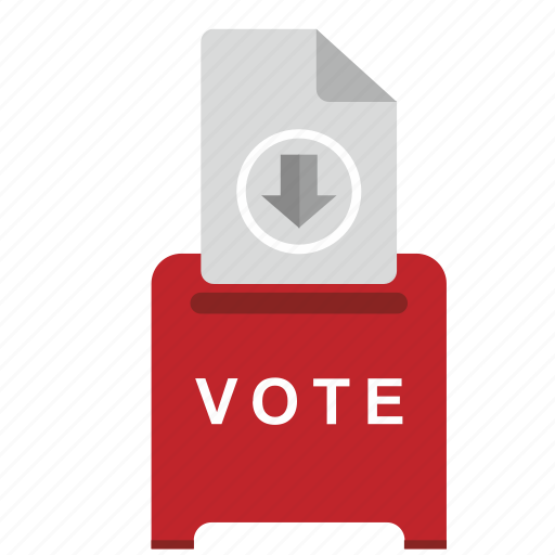 arrow, box, elections, instruction, list, vote icon