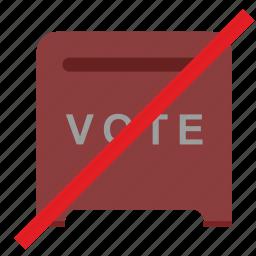 box, cancel, elections, vote icon