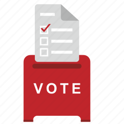 box, choice, elections, list, vote icon