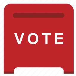 box, choice, elections, red, vote icon