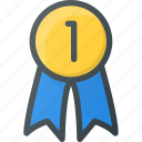 awward, badge, first, reward, win icon