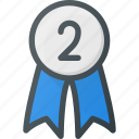awward, badge, place, reward, second