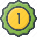 awward, badge, first, place, reward, sticker icon