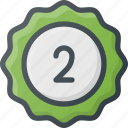 awward, badge, place, reward, second, sticker icon