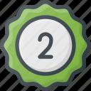 awward, badge, place, reward, second, sticker