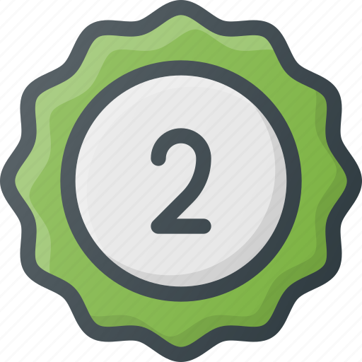 awward, badge, place, reward, second, sticker icon