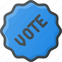 awward, badge, reward, sticker, vote, voted icon