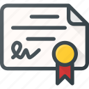awward, certificate, certify, document, reward icon