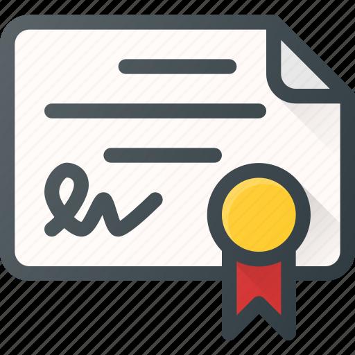 awward, certificate, certify, document, reward icon