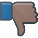awward, dislike, down, finger, gesture, reward icon