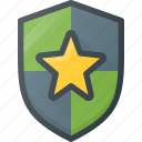 awward, favorite, reward, shield, star icon