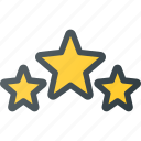 awward, rating, reward, star, stars, three icon