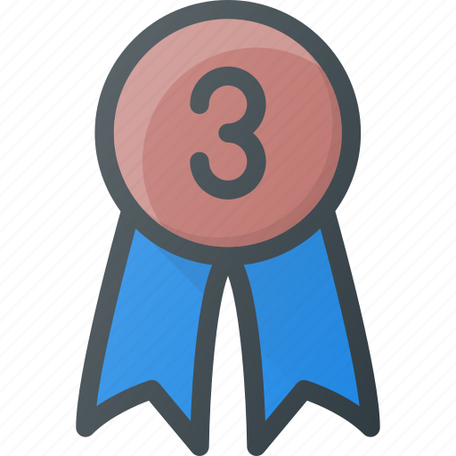 awward, badge, reward, third icon