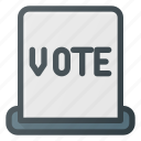 awward, hole, reward, ticket, vote, voting icon