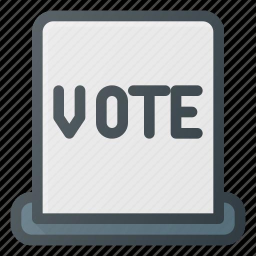 awward, hole, reward, ticket, vote, voting icon