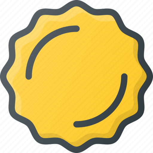 awward, badge, reward, seal, stamp, sticker, wax icon