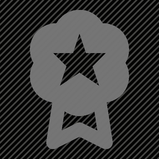 badge, favorite, medal, ribbon, star icon