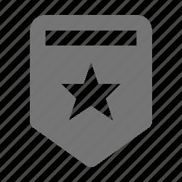 badge, medal, prize, reward, star icon