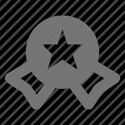 baddge, medal, prize, ribbon, star icon