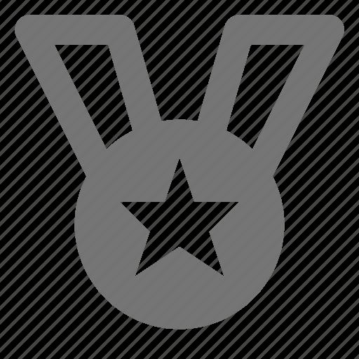 award, badge, medal, reward, ribbon, star icon