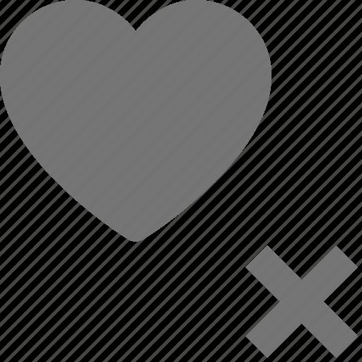 delete, heart, like icon