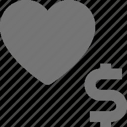 heart, like, money icon