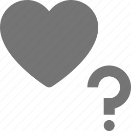 heart, help, like, question icon