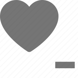 heart, like, minimize, minus, remove icon