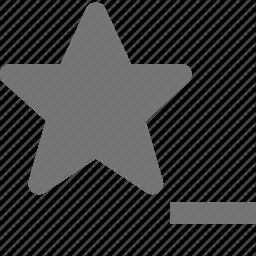 favorite, minimize, minus, remove, star icon