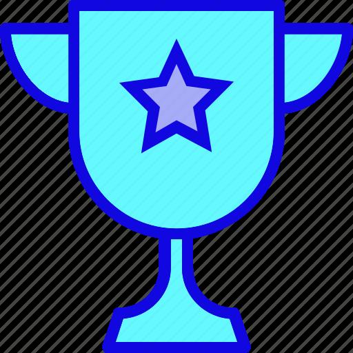 achievement, cup, medal, reward, star, trophy, winner icon