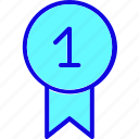 achievement, award, badge, medal, one, reward, winner icon