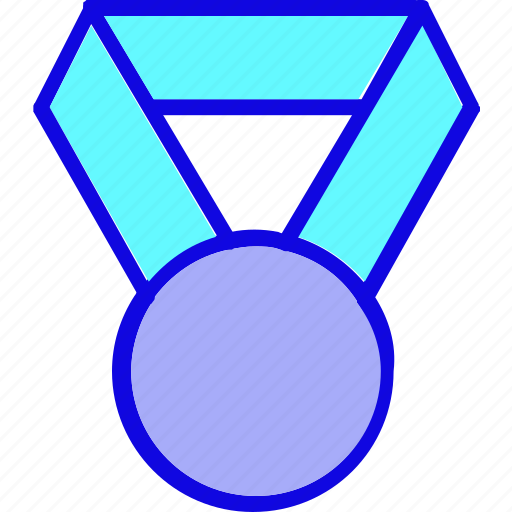 achievement, award, badge, medal, reward, ribbon, trophy icon