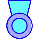 achievement, award, badge, medal, reward, ribbon, winner icon