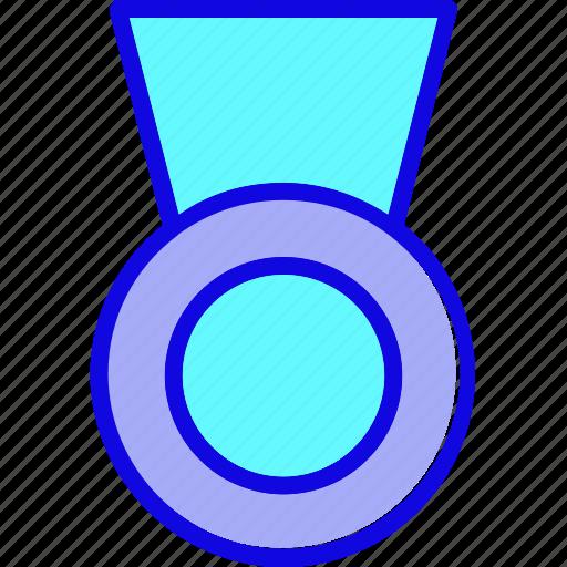 achievement, award, badge, medal, reward, ribbon, winner icon