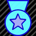 achievement, award, badge, medal, reward, star, winner