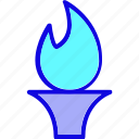 candle, ceremony, fire, flame, reward, torch, winner icon