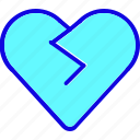 bad, dislike, emoticon, heart, sad, vote, votes icon