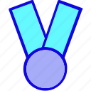award, badge, champion, medal, reward, ribbon, winner icon